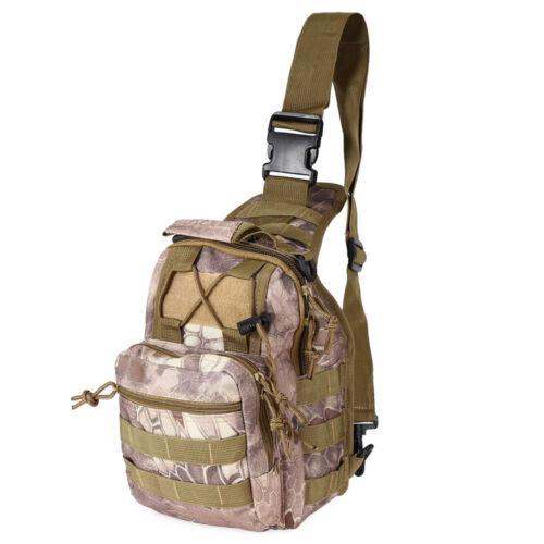 Men Backpack Molle Tactical Sling Chest Assault Pack Messenger Shoulder Bag Hot