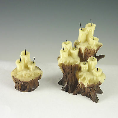 Dollhouse Miniature Halloween Spooky Candles on Stumps Set 17005