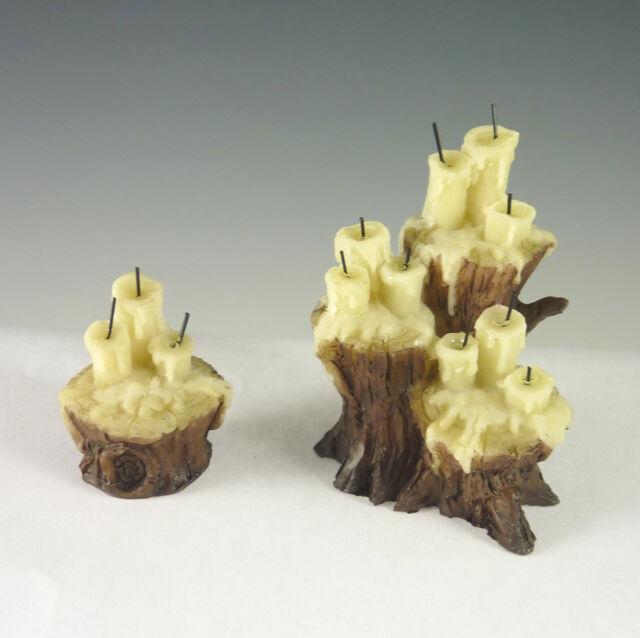 Dollhouse Miniature Halloween Spooky Candles on Stumps Set 17005