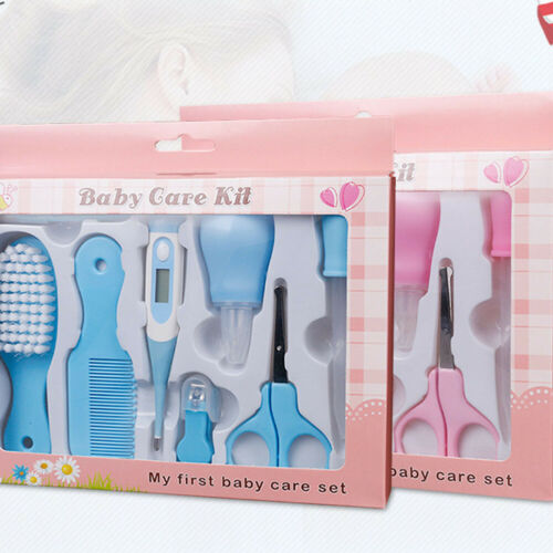 Pink Baby Grooming Kit Infant Nursery Set Baby Cleaning Healthcare Kits 10pcs Z