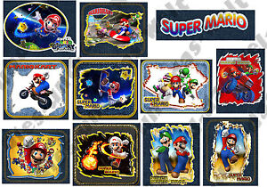 TOP-Super-Mario-Applikationen-FLICKEN-Aufnaeher-od-Buegelflicken-11-Stck-NEU
