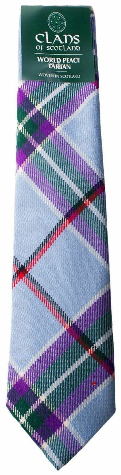 World Peace 100% Wool Scottish Mens Tartan Tartan Tartan Tie | Nicht so teuer