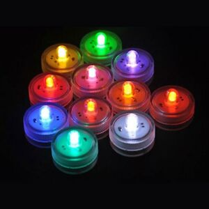 100X LED Submersible Waterproof Wedding Decoration Party Tea Light F Decoration