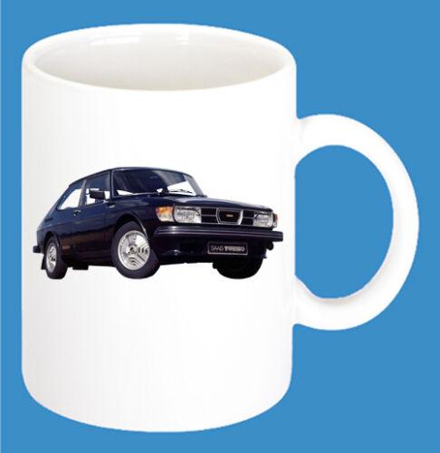 Saab Car Models Coffee Cup Car 300ml Ceramic Mug with Print