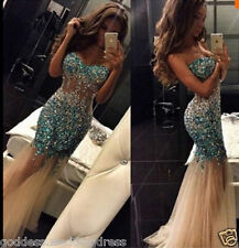 c5ab90273f975 item 1 Mermaid Crystal Bead Formal Prom Dress Party Ball Evening Pageant Celebrity  Gown -Mermaid Crystal Bead Formal Prom Dress Party Ball Evening Pageant ...