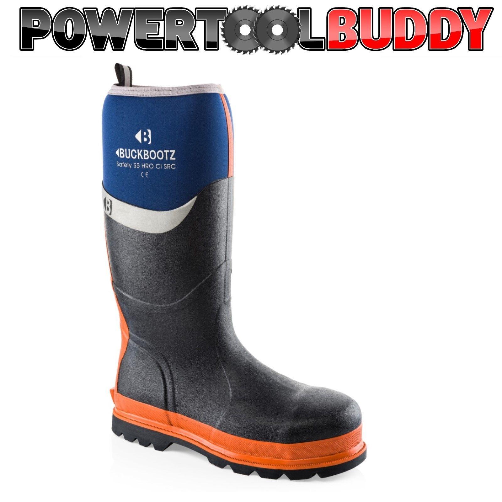 Buckler Buckbootz Wellington BBZ6000 S5 Safety Knee Wellington Buckbootz SZ 5-13 Blau, schwarz or olive 524393