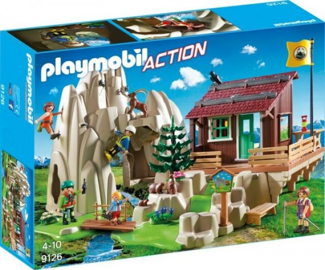 Playmobil Action 9126 Shelter Of Mountain With Rocks