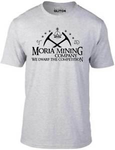 Men's Moria Mining Company T-Shirt - GIFT FILM MOVIE HOBBIT BOX SET COSTUME FUN