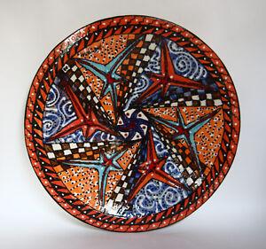 """Fabriqué à la main poterie par Ron korczynski faible tiré en porcelaine 16"""" plateau parfait!-afficher le titre d`origine OICyA7wY-09085749-290476602"""