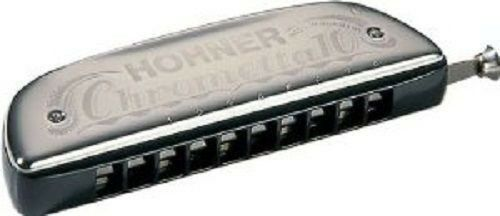 HOHNER 253 40 CHROMETTA 10 CHROMATIC HARMONICA C HARP NEW IN CASE SALE
