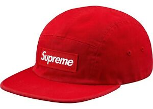 962e733a0c9 Image is loading NEW-Supreme-Washed-Chino-Twill-Camp-Cap-FW18-