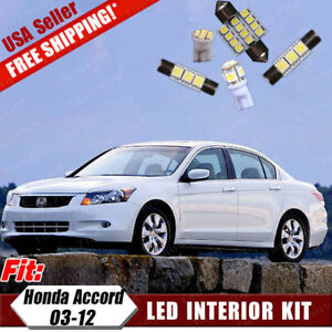 Image Is Loading 18x Pure White Led Bulbs Interior Lights Package