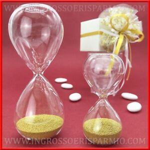 Bomboniere Per Matrimonio Prezzi.Clessidra Con Perline Oro In Vetro Bomboniere 50 Anni Matrimonio