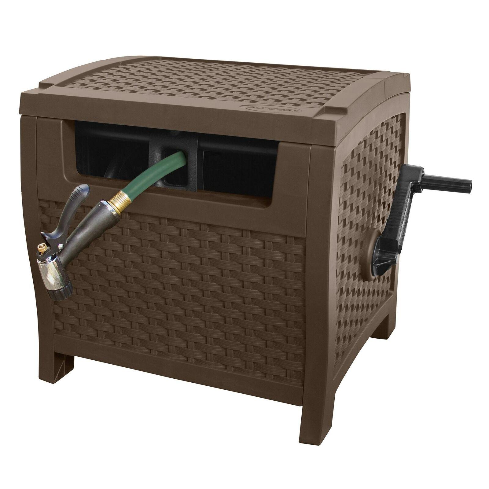 175 Ft Garden Hose Reel Water Storage Hideaway Retractable Outdoor Watering Wash