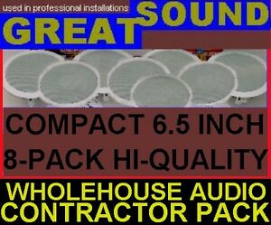 8-PACK-SMALL-HQ-CEILING-SPEAKERS-CONTRACTOR-BULK-PRO-SPKRS-8X