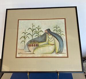 """Framed Southwest Print """"Harvest Basket"""" by G.E. Mullan (1943-2015) Artist"""