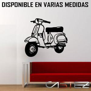 Vinilos Pared Vintage.Detalles De Vinilo Pared Casa Moto Vespa Vintage Motorcycle Retro Antigua Env 24 48h