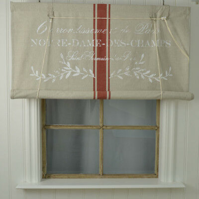 Notre Dame Raffrollo Raffgardine 100x140 Oder 140x140 Shabby Vintage Landhaus Relieving Rheumatism And Cold Blinds & Shades Window Treatments & Hardware