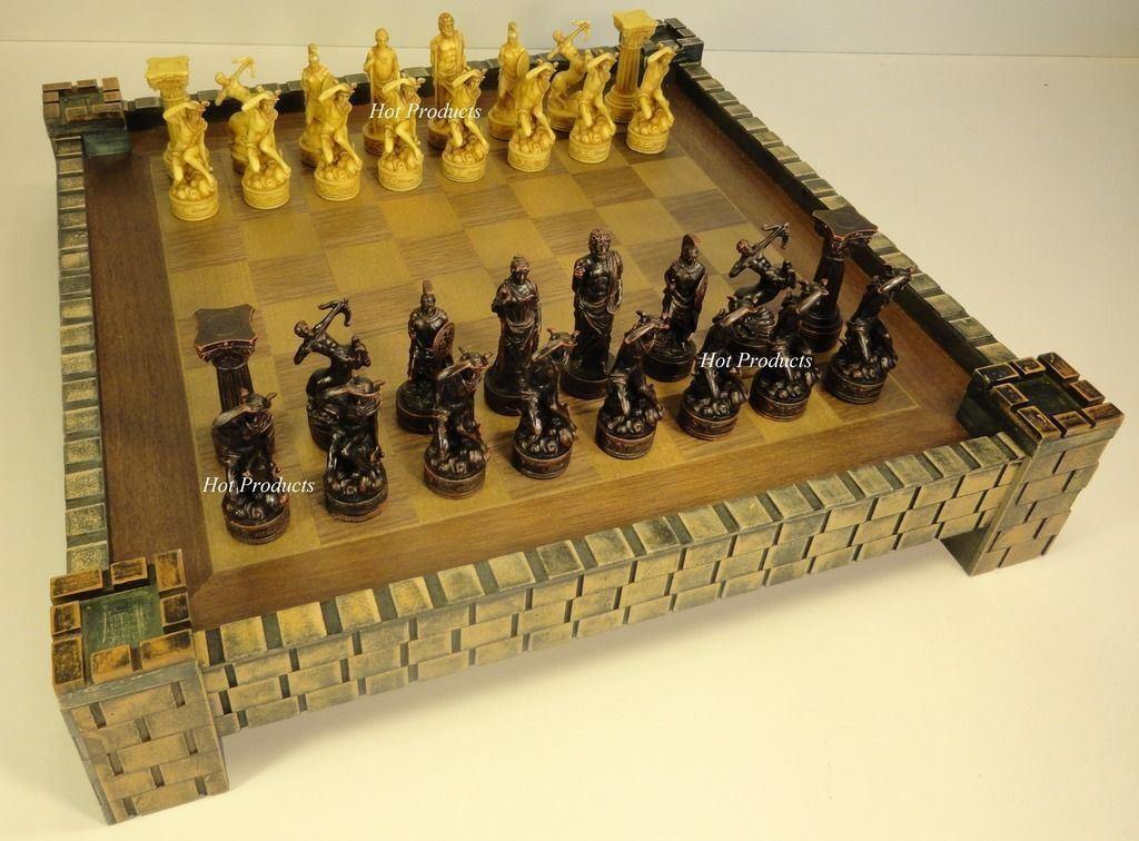 El tablero de ajedrez de los dioses dioses dioses de la mitología griega de Zeus y Hera, con el bastión del castillo. 573