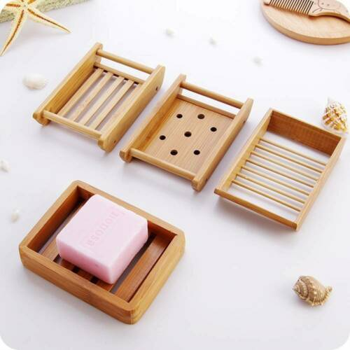 Useful Bamboo Manual Soap Dish Drain Soap Case Japanese Style Soap Tray Holder P