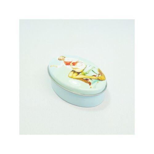 SEW savoureux VINTAGE couturière petit ovale à coudre Tins Accessoires de Rangement Craft