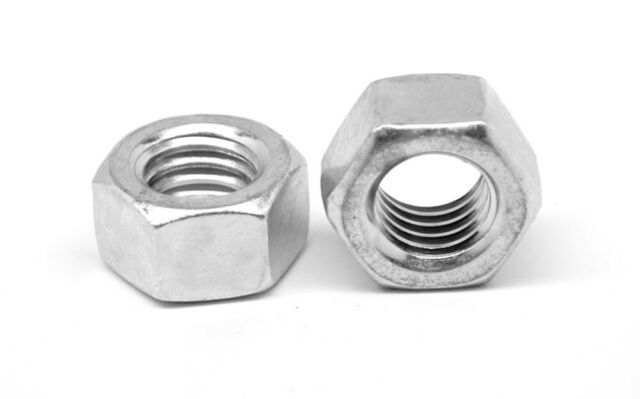 9//16-12 Low Carbon Grade 2 Finished Hex Nuts Zinc Plated Qty 50