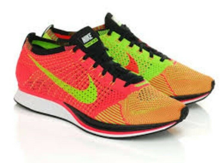 100% authentic 7a1b6 ea54a New Nike Flyknit Racer Punch Electric Green Size 12.5 526628 603 Men s  Hyper ntimjj6580-Athletic Shoes