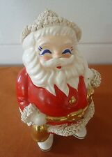 Vintage Ceramic Santa Claus Bank w/ Spaghetti Trim WDW-K made in Japan