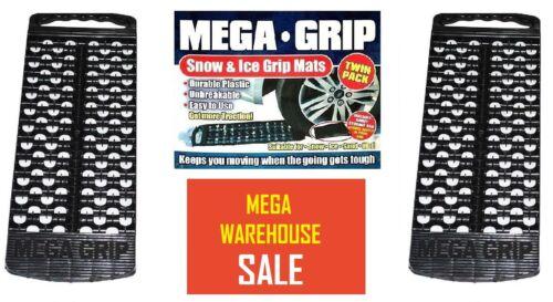 2x Mega Grip Snow Mud Ice Traction Grip Mats Wheel Grippers Car Caravan