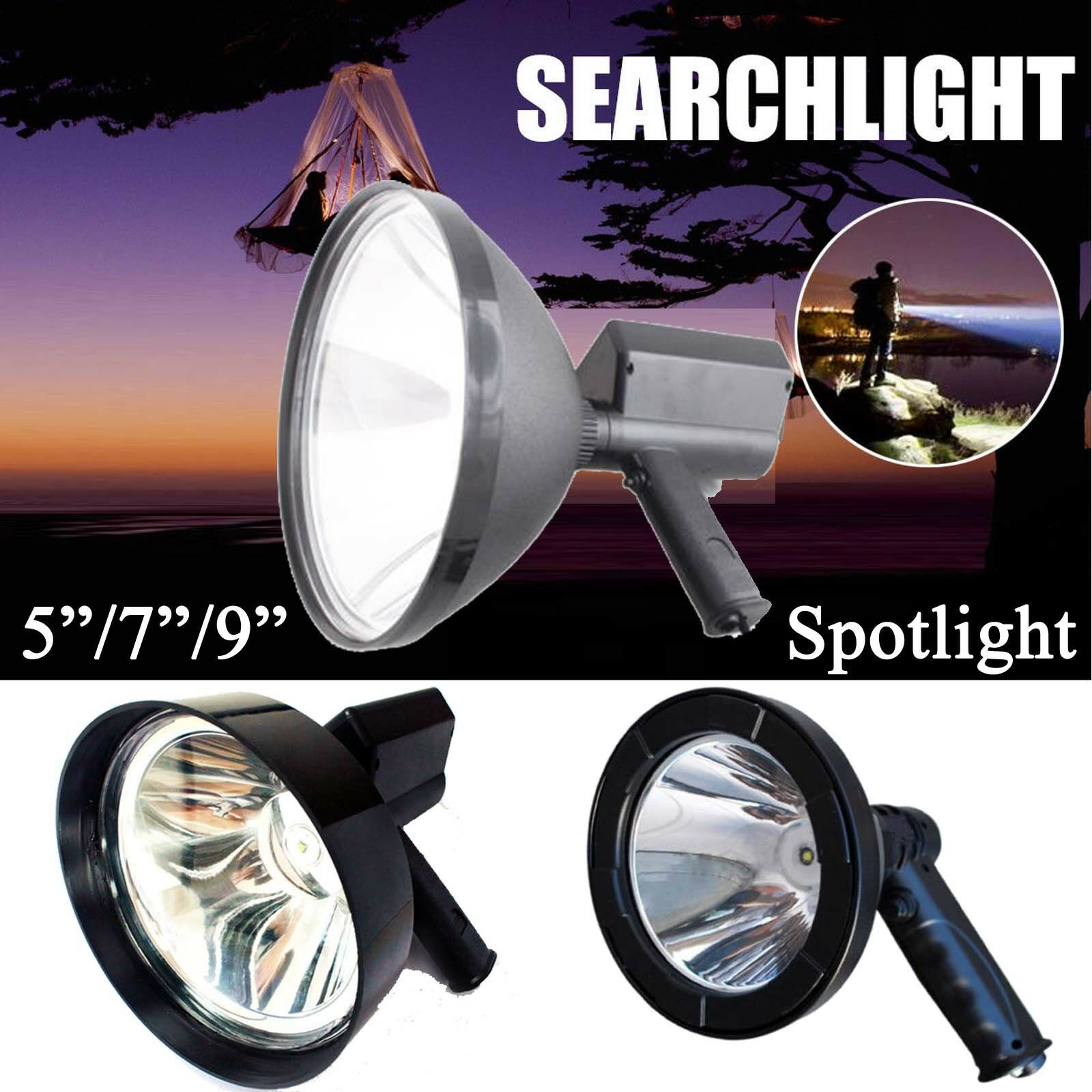 5 7  LED CREE Rechargeable Spotlight  Hunting HID Handheld Torch Spot Search Lamp  the most fashionable
