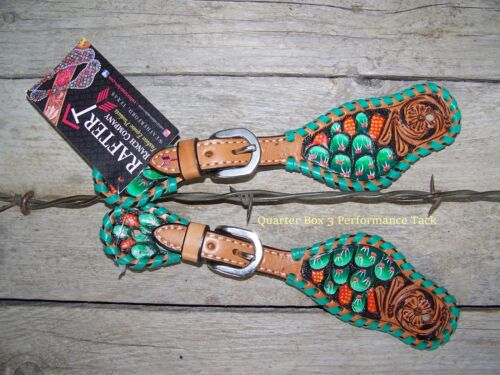 Painted Cactus Youth by Rafter T Ranch Company Spur Straps