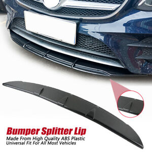 Car-Universal-Carbon-Fiber-SpoilerFront-Bumper-Splitter-Diffuser-Lip-Body-Kit