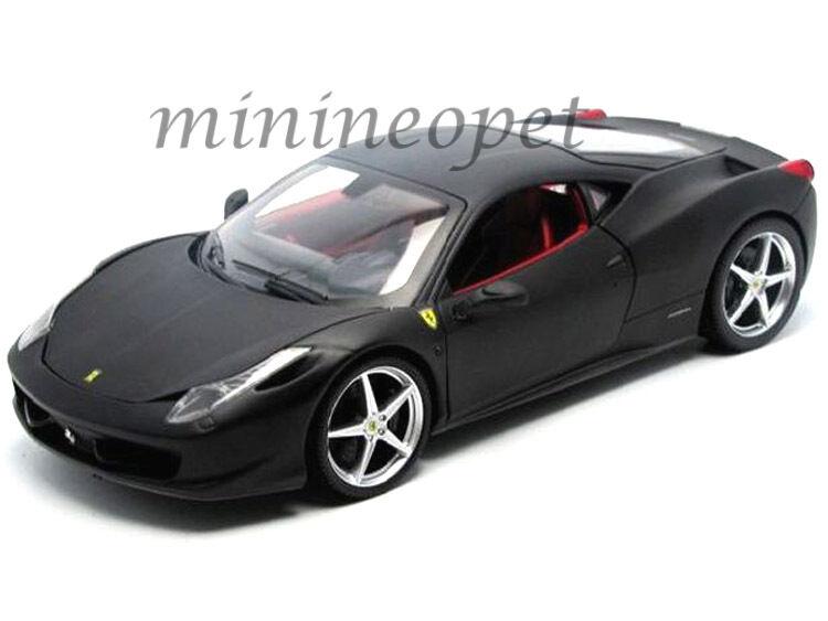 Hot Wheels t6921 Ferrari 458 Italia Coupe 1 18 Diecast Modelo Negro Mate