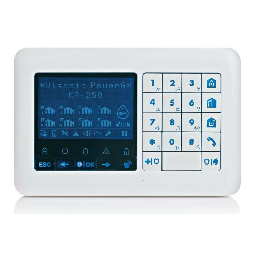 VISONIC KP-250 PG2 2 vías teclado inalámbrico de dos vías para sistema VISONIC Powermaster