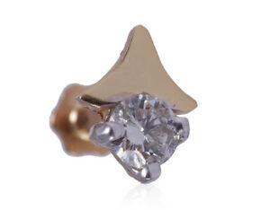 0-10-Cts-Runde-Brilliant-Cut-Natuerliche-Diamanten-Nasenstecker-In-750-18K-Gold