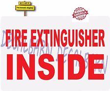 Semi Fire Extinguisher Inside Kenworth Peterbuilt Mack Decal Sticker Made in USA