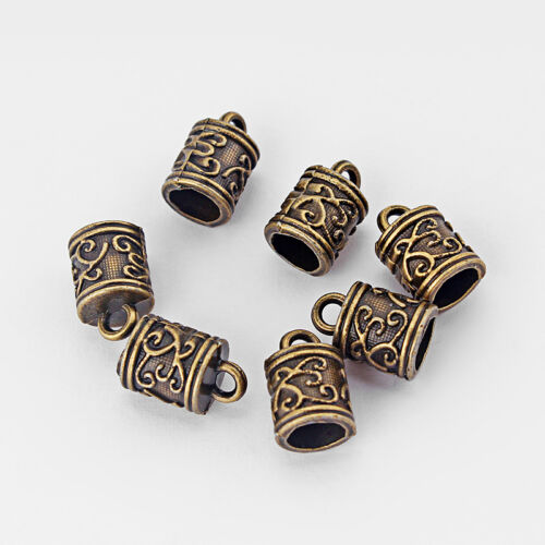 20 Pcs End Caps Bead Stopper For 5mm Round Leather Cord Bracelet Necklace Making