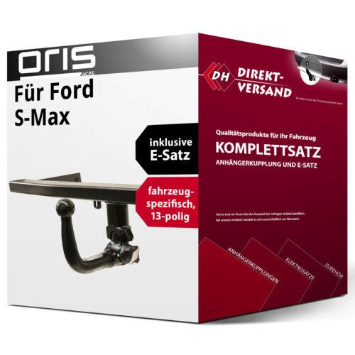 E-Satz 13pol spezifisch Anhängerkupplung abnehmbar Oris Für S-Max Typ WA6