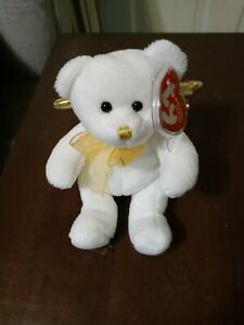 Ty Beanie Baby Jubilant bear with gold wings, Cracker Barrel exclusive,  MWMT