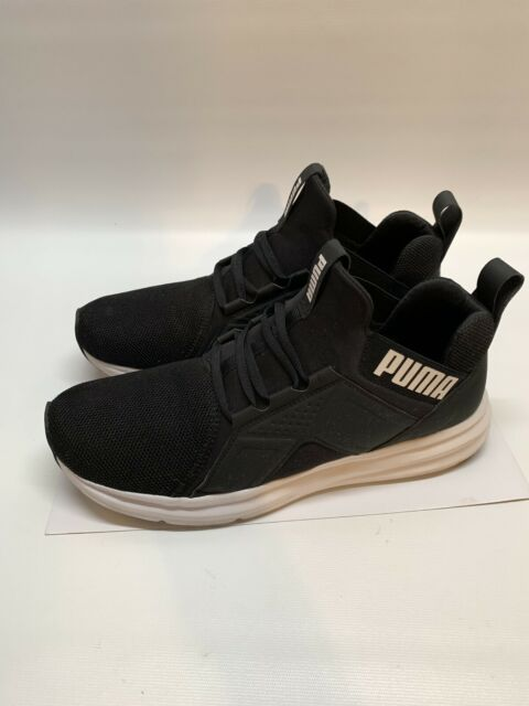 PUMA ENZOS Men's Shoes BlackWhite Running Training Mesh Knit Sneakers Size 11