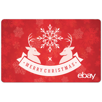 Merry Christmas eBay Digital Gift Card - $25 to $200 - Fast Email Delivery