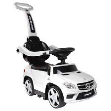 Best Ride On Cars Toddler 4-in-1 Mercedes Push Car Stroller w/ LED Lights, White