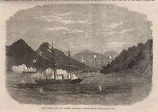 Ca 1866 HMS OSPREY AND HMS OPOSSUM DESTROYING CHINESE PIRATEJUNKS IN SAMA BAY