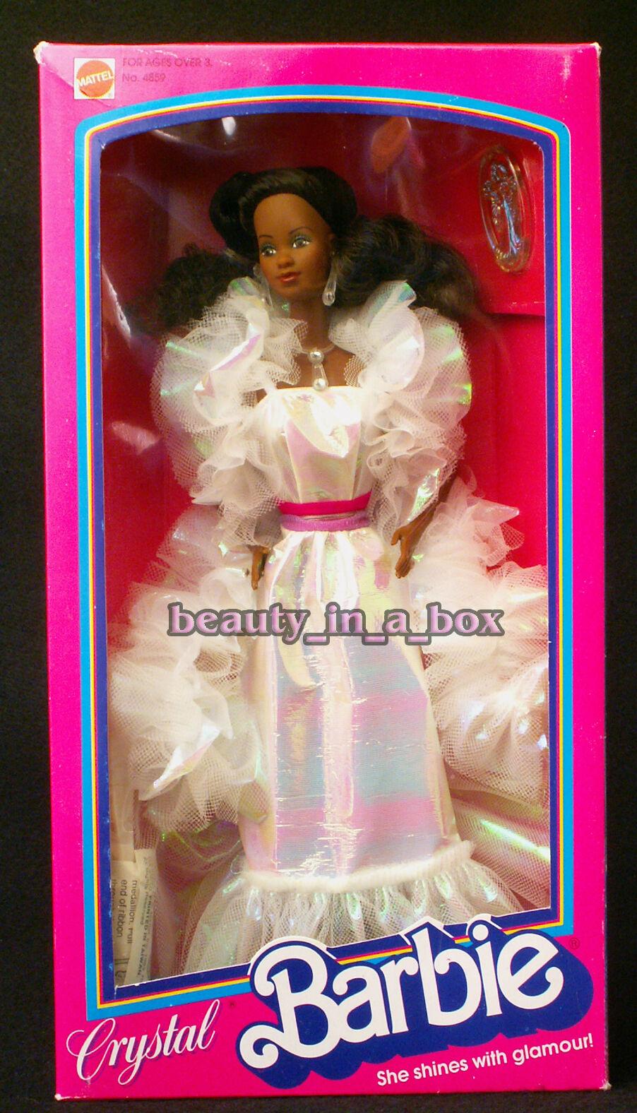 Muñeca Barbie De Cristal AA afroamericano Excelente Box 1983 1984
