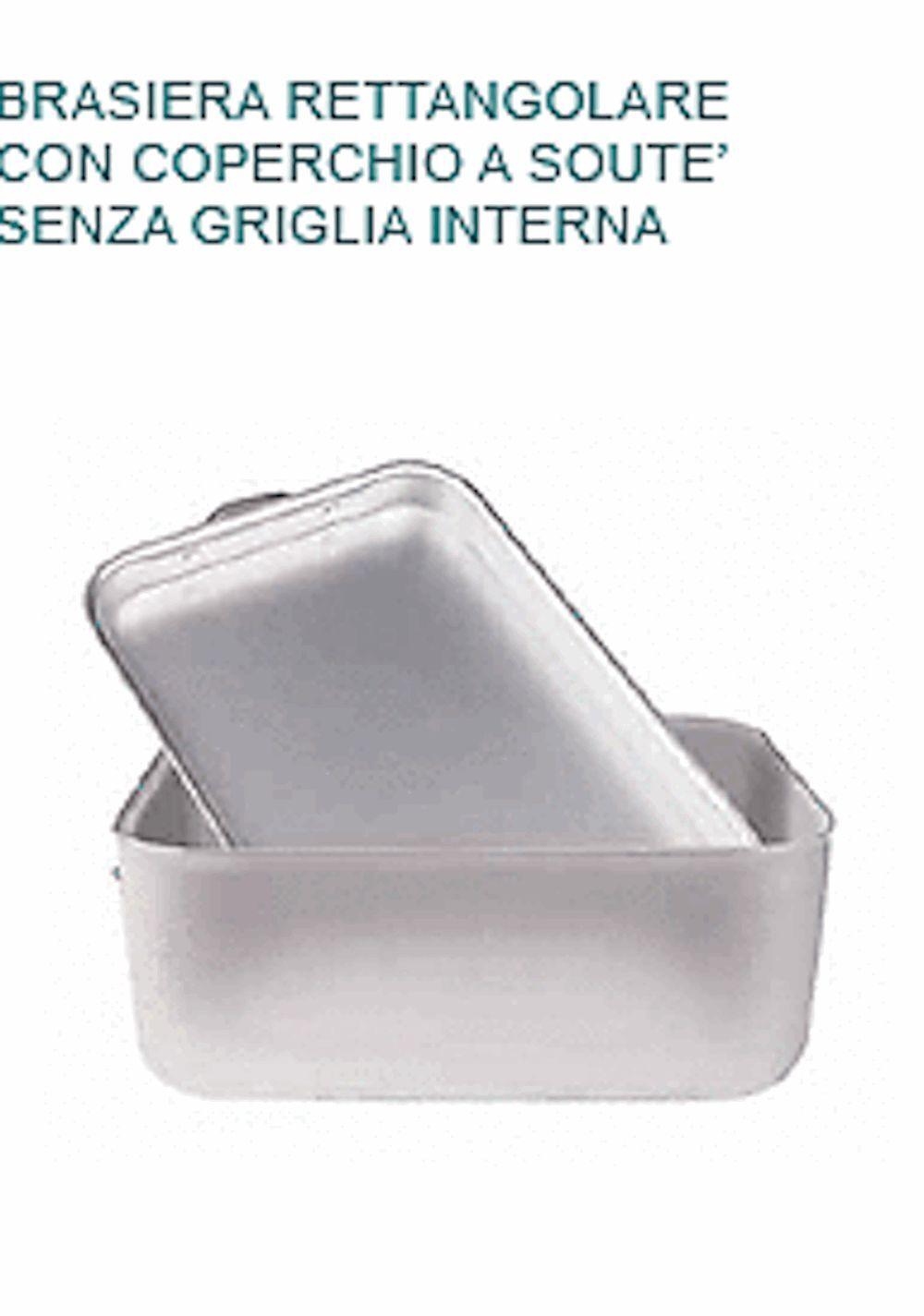 BRASIERA In Alluminio cm 70X45X20H Coperchio Souté Professionale Pentole Agnelli Agnelli Pentole 3eecb3