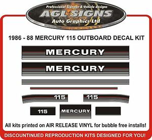 1986-1987-1988-Mercury-115-hp-Reproduction-Outboard-Decals-90-hp