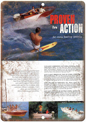 "Schiada Boat Vintage Ad 10/"" x 7/"" Reproduction Metal Sign L86"