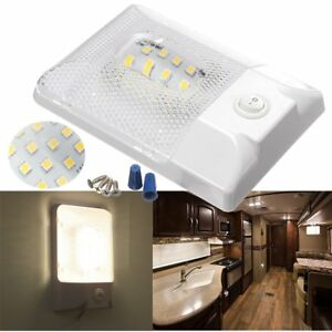 Details about DC12V LED Roof Dome Ceiling Light Switch RV Boat Camper  Trailer Interior Lamp