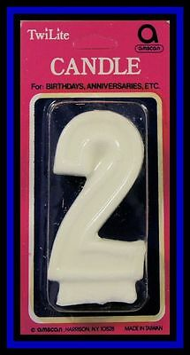 "Possessing Chinese Flavors New Amscan***numeral ""2"" Candle*** Nip!"