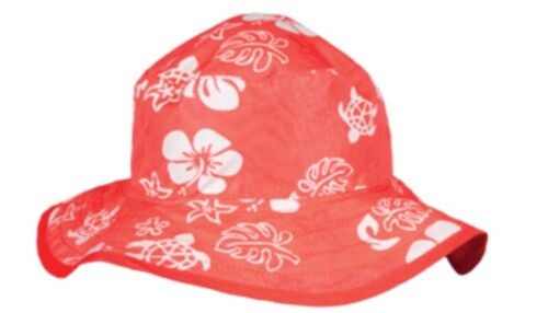 Baby Banz Baby Toddler Children Reversible Bucket Sun Hat Red Sea Turtle 2-5 Y